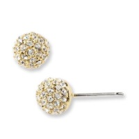 Nadri Small Paveball Stud Earrings - Gold