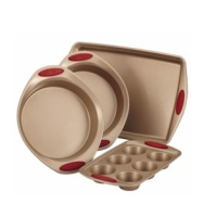 Rachael Ray Cucina 4-Piece Bakeware Set - Red
