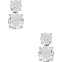 Nadri Rhinestone Drop Earrings - Rhodium