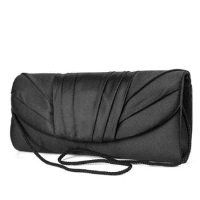 Jessica McClintock Tuxedo Flap Clutch - Black
