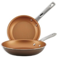 Ayesha Curry Aluminum Open Skillets - Brown Sugar