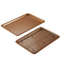 Ayesha Curry 3-Piece Bakeware Set - Copper